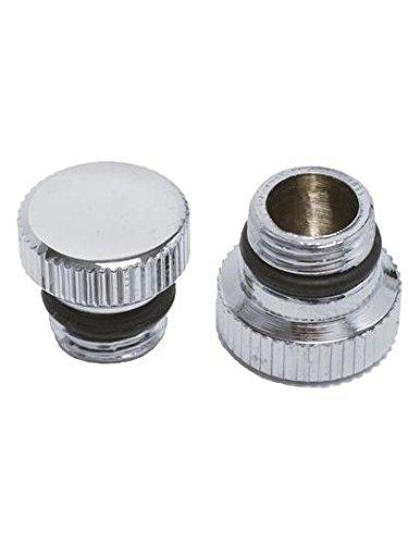 Silver Hookah Hose - Mya Hookah Hose Port Metal Cap/Plug Silver