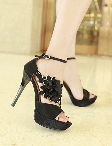 Shoes Red Toe Heels Women's Evening Black 7985 amp; Dress Platform Casual Peep Red Party Heel Heels ShangYi Sandals gqZ8XX5