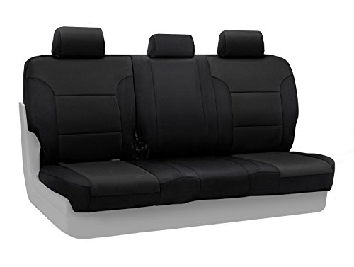 Coverking Custom Fit Center 60/40 Back Seat Cover for Select Honda Pilot Models - Neosupreme (Black)