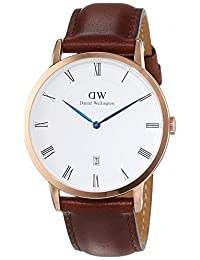Daniel Wellington Men's Dapper St.Mawes 1100DW Rose Gold Leather Quartz Watch