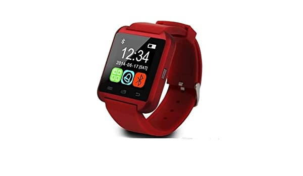 Smart Watch Smartwatch teléfono U8 Bluetooth Reloj inteligente para Asus Zenfone 5, Zenfone 2, Zenfone 3, Zenfone Laser, Zenfone Go, Zenfone Selfie Rojo: ...