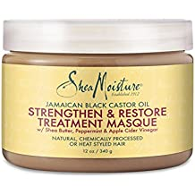 Shea Moisture Jamaican Black Castor Oil Strengthen & Restore Treatment Masque, 12 oz.