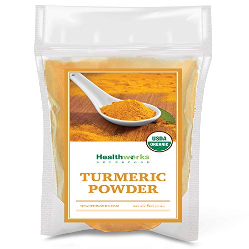 Healthworks Turmeric Powder (8 Ounces ) | Ground Raw Organic | Curcumin & Antioxidants | Keto, Paleo, Vegan, Non-GMO | Anti-Inflammatory