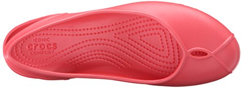Mujer W Rosso Coral crocsOlivia Bailarinas II q5B6t