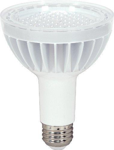 Satco S8948 14 Watt (75 Watt) 890 Lumens PAR30 Long Neck LED Neutral White 3500K 40 Beam KolourOne Light Bulb, Dimmable by KolourOne