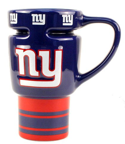 NFL New York Giants 16-Ounce Sculpted Travel Mug Nfl Ceramic Travel Coffee Mug