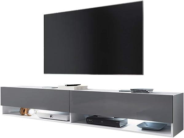 Selsey - Mueble para TV (180 x 32,5 x 30 cm), color blanco mate y gris brillante: Amazon.es: Juguetes y juegos