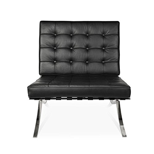 Plata Barcelona Lounge Chair-Black