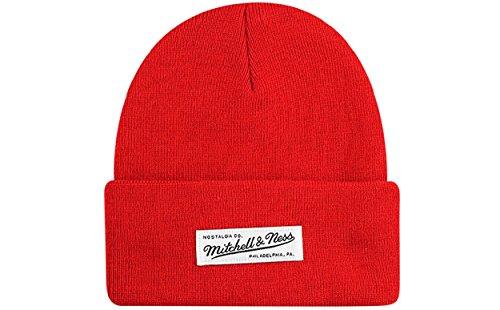 Mitchell & Ness - Gorro de punto - para hombre Rojo rosso Taille unique