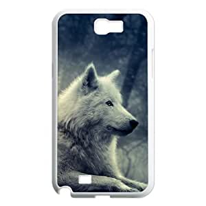 GGMMXO Gray Wolf Shell Phone Case For Samsung Galaxy Note 2 N7100 [Pattern-1]