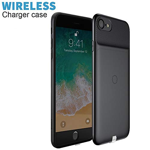 Wireless Charging Case for iPhone 7, Baseus 5W Wireless Charger Receiver Case with Lightning Plug (Not Battery Case)