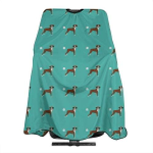 Haircut Barber Cape Cover Hair Apron,Boxer Dog Breed Funny Fart Boxers Teal Hair Salon Cape with Snap Closure for Hair Cutting,Styling and Shampoo 55