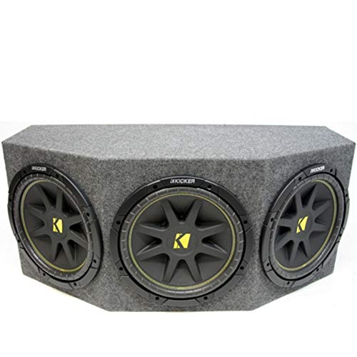 Triple 12″ Kicker Comp Loaded Subwoofer Box Enclosure (10C12-4)