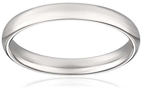 Women's Platinum 2.5mm Traditional Plain Wedding Band with Luxury High Polish, Size 5.5