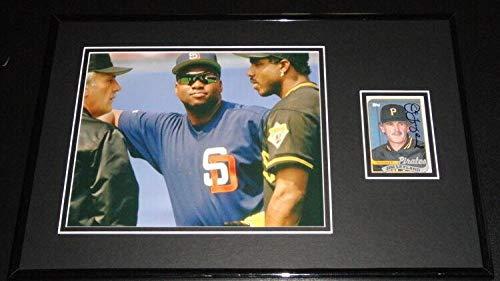 Tony Gwynn Autographed Photo - Jim Leyland Signed Framed 11x17 Photo Display w/Barry Bonds & Tony Gwynn - Autographed MLB Photos