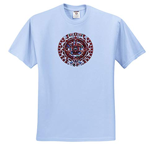 Macdonald Creative Studios – Mexico - The Ancient Sun Mayan Calendar from pre-Columbian Mexico. - T-Shirts - Light Blue Infant Lap-Shoulder Tee (18M) (ts_295602_75) ()
