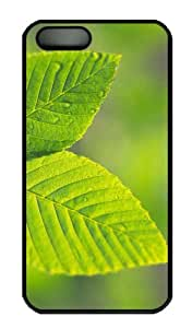 iPhone 5S Case - Customized Unique Design Tree Leaves 12 New Fashion PC Black Hard