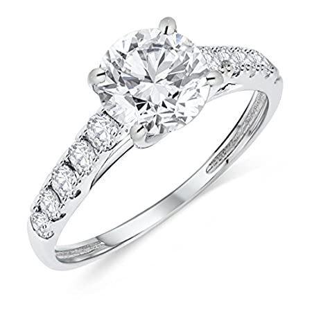 1//10 cttw, G-H Color, I1-I2 Clarity Buy Jewels 14k Gold Half Band Natural Diamond Wedding Anniversary Ring