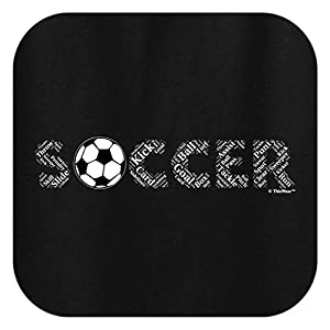 Soccer Birthday Gift Soccer Word Collage Soccer Fan Gift Youth Long Sleeve T-Shirt Large Black