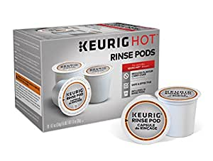 Keurig 5000057588 K-Cup Coffee Maker Rinse Pods Brews in Both Classic 1.0 and Plus 2.0 Series K, 10 Count, White