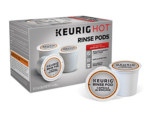 Classic 10 Cup Coffee Maker - Keurig 5000057588 K-Cup Coffee Maker Rinse Pods Brews in Both Classic 1.0 and Plus 2.0 Series K, 10 Count, White