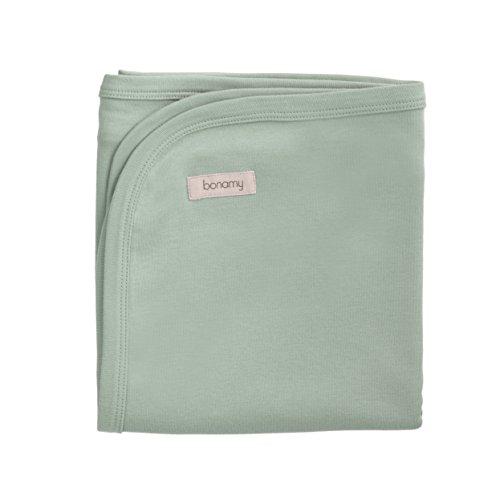 bonamy Baby Organic Cotton Swaddling Blanket, Mint ()