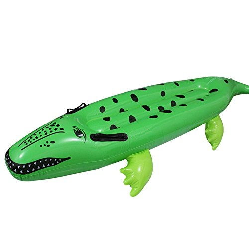 SANFENG Alligator Ride On Inflatable Pool Float, 54