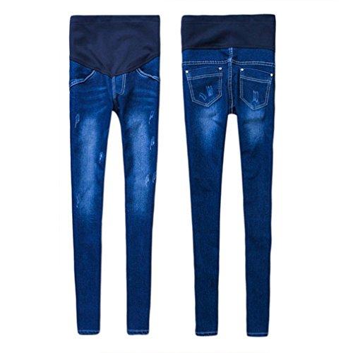 da in donna denim Jeans cotone incinta elasticizzato Gugutogo Jeans da maternit in zqnX8Sv