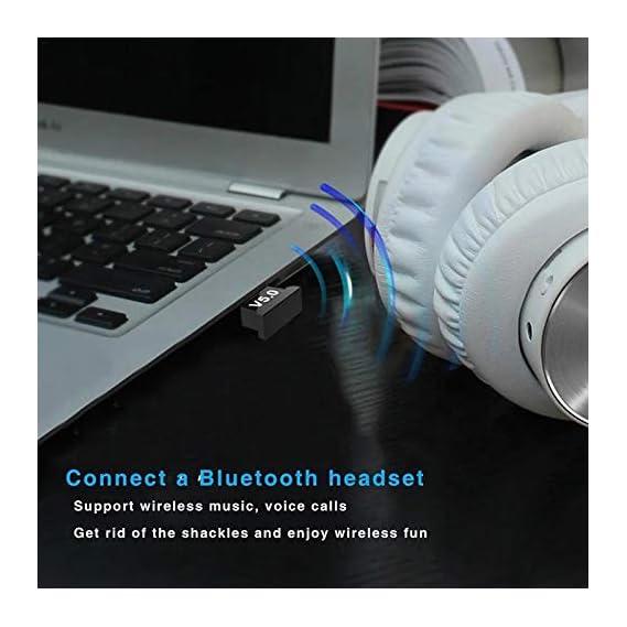 Rocketkart Bluetooth Dongle, Wireless USB 5.0 Bluetooth Dongle Adapter, Bluetooth Transmitter Receiver for Laptop PC