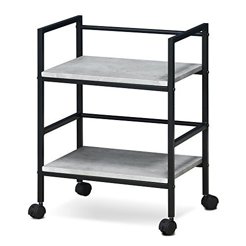 Furinno FM4560WSW Modern Lifestyle Storage Cart with Casters, Stone ()