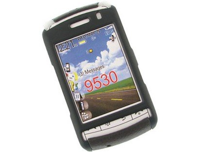 Snap On Rubberized Plastic Phone Protector Black and Brown Case For BlackBerry Storm 9530 9500 -