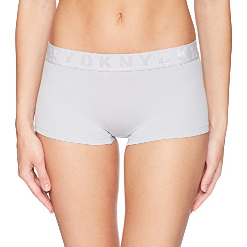DKNY Women's Seamless Litewear Rib Hipster, Glacier Dark, Small