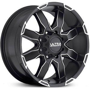 Ultra Wheel 225U Phantom Satin Black with Diamond Cut Accents Wheel (18x9