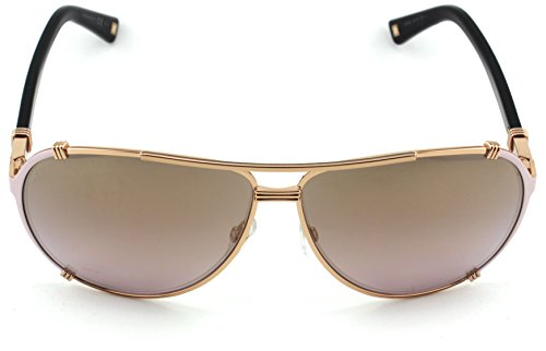 Christian Dior Chicago 2/S Metal Woman Aviator Sunglasses (Gold Pink Soft Black Frame, Gold Gradient Pink Lens (0HFB))