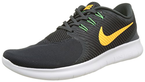 Nike Free RN Commuter Lightweight Sneakers Durability Comfortable Men's Running Shoes (12 M US, Anthracite Laser Orange 008) by NIKE