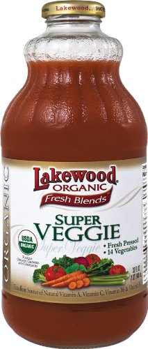 Lakewood Organic Super Veggie Juice, 32-Ounce Bottles (Pack of 6) (Tomato Organic Juice)