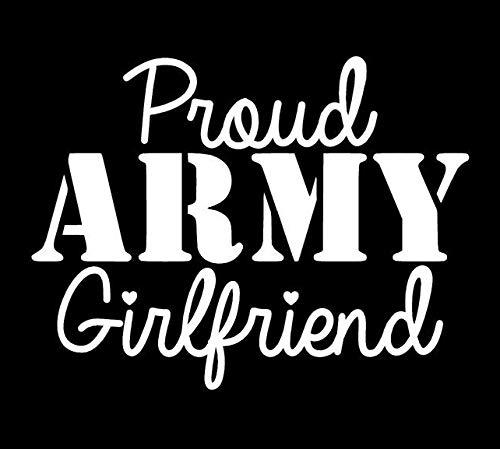 Makarios LLC Proud Army Girlfriend Cars Trucks Vans Walls Laptop MKR| White |5.5 x 4.25|MKR793 (Best Laptop For Girlfriend)