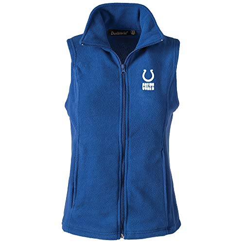 NFL Indianapolis Colts Womens Houston Ladies Fleece Vest, Royal, X-Large