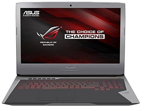Asus ROG-Gaming G752VT-GC030T 43,94 cm (17,3 Zoll FHD) Notebook (Intel Core i7 6700HQ, 8GB RAM, 256GB SSD + 1TB HDD, NVIDIA Geforce GTX 970M, Windows 10 ) silber
