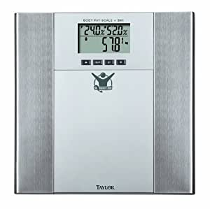Biggest Loser Body Fat-Body Water Scale, Silver and Stainless Steel