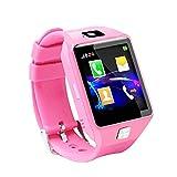Reloj inteligente para niños con posicionamiento, resistente al agua, ideal como regalo de cumpleaños para niñas y niños, color rosa, azul y negro, Rosado