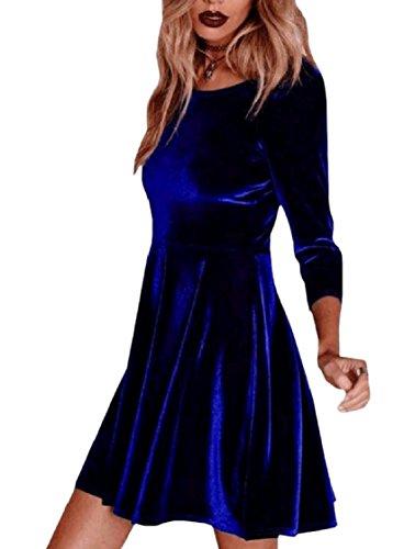 Vestito Midi Dall'oscillazione Tunica Coolred Pieghe Di Pattern1 Velluto Solido donne 0aP8POR4