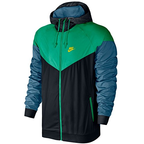 ns athletic-warm-up-and-track-jackets 727324-011_L - BLACK/STADIUM GREEN/ELECTROLIME (Nike Classic Training Jacket)