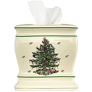 Spode Christmas Tree Tissue Cover Cell Phones Accessories