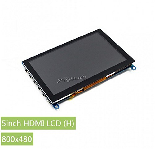 5 inch 800x480 Capacitive Touch Screen LCD HDMI Interface Supports Raspberry Pi 1/2/3 Model B A+ B+ BB Black Banana Pi Supports Game Consoles Like Microsoft XBOX360 Sony PS4 Nintendo Switch @XYGStudy