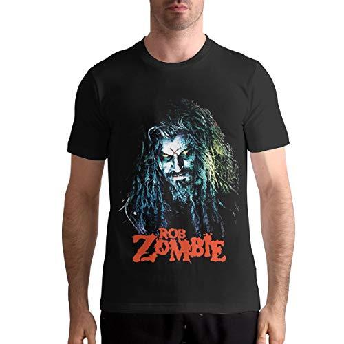 Nathalie R Salmeron Rob Zombie Men's Crew Neck T Shirt XL Black