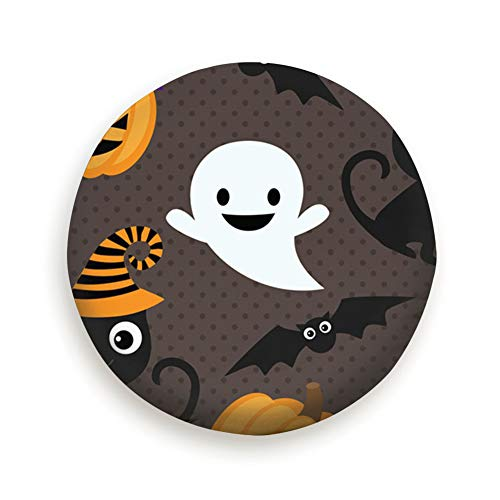 DmiGo Halloween Cats Ghosts Animals Holidays Tire Cover Camping Potable Polyester Universal Spare Wheel Covers for Trailer RV SUV Truck Camper Travel Trailer Accessories(14,15,16,17 Inch) 16inch]()