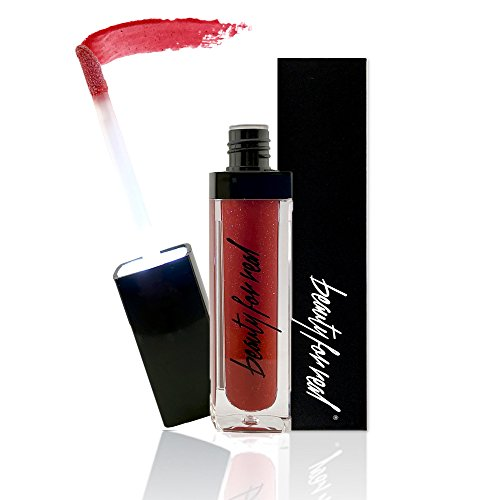Beauty For Real Non-Sticky Lip Gloss + Shine - Led Light and Mirror - .15 fl oz (LIGHT MY FIRE)
