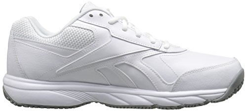 Reebok Mens Work N Cushion 2.0 Walking Shoe Bianco / Grigio Piatto
