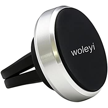 Magnetic Phone Holder, Woleyi Universal Air Vent Magnetic Car Mount with Strong Magnets for All Smartphones and Mini Tablets